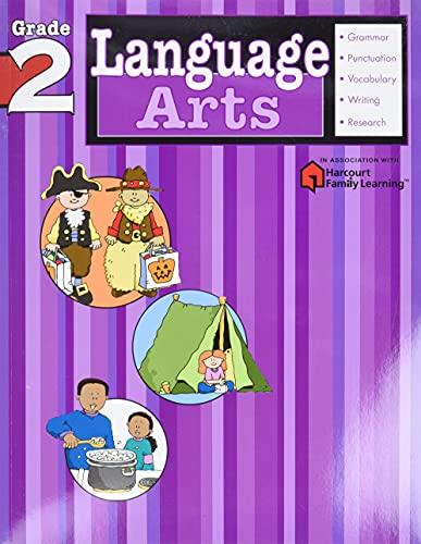 9781411404106: Language Arts: Grade 2 (Flash Kids Harcourt Family Learning)