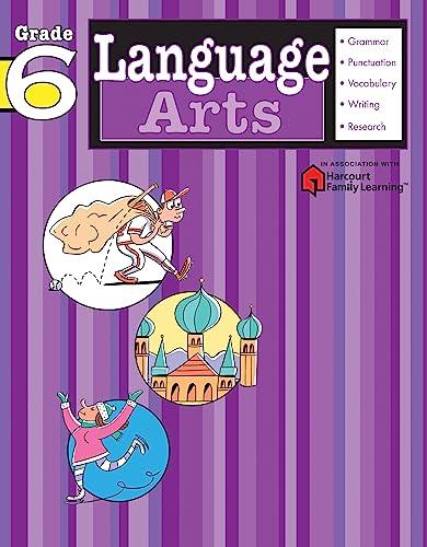 9781411404144: Language Arts: Grade 6 (Flash Kids Harcourt Family Learning)