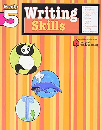 9781411404823: Writing Skills: Grade 5 (Flash Kids Harcourt Family Learning)