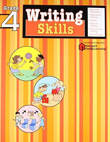 9781411404847: Writing Skills: Grade 4 (Flash Kids Harcourt Family Learning)