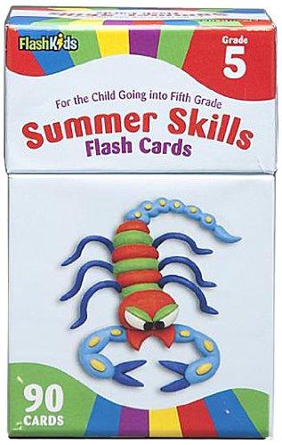 9781411427396: Summer Skills Flash Cards Grade 5 (Flash Kids Summer Skills)