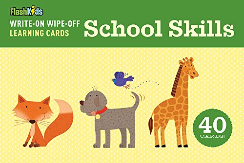 9781411463424: Write-On Wipe-Off Learning Cards: School Skills