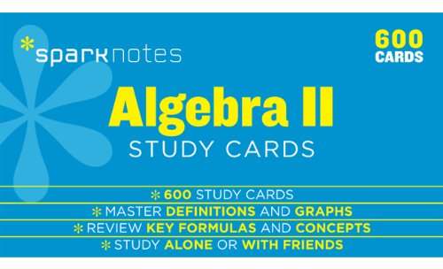 9781411469907: Algebra II SparkNotes Study Cards