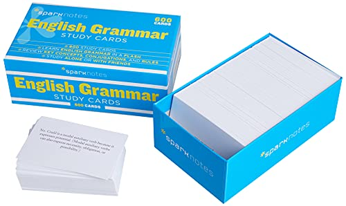 English Grammar (SparkNotes Study Cards): SparkNotes Editors