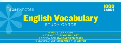 9781411469969: English Vocabulary Sparknotes Study Cards