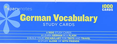 9781411470002: German Vocabulary SparkNotes Study Cards