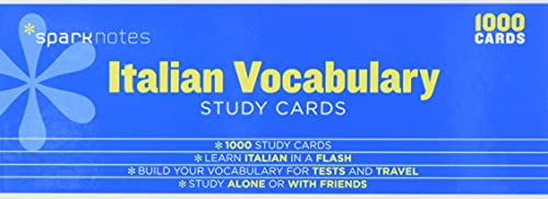 9781411470026: Italian Vocabulary Sparknotes Study Cards