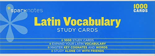 Latin Vocabulary (SparkNotes Study Cards): SparkNotes Editors