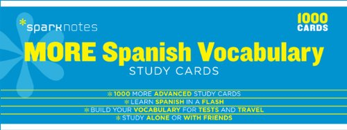 9781411470040: More Spanish Vocabulary SparkNotes Study Cards