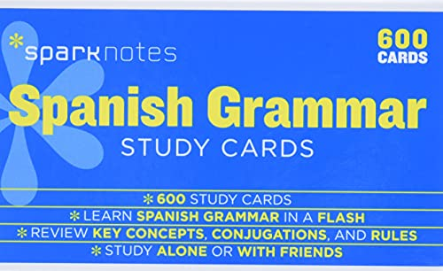 9781411470095: Spanish Grammar SparkNotes Study Cards