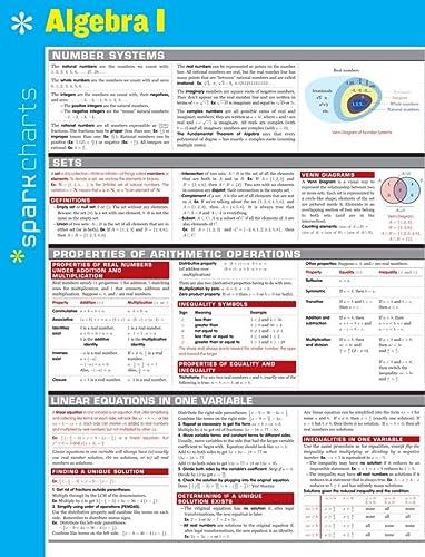 Algebra I Sparkcharts: Sparknotes