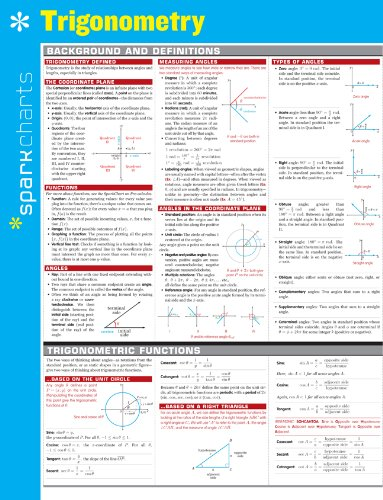 Trigonometry SparkCharts: SparkNotes