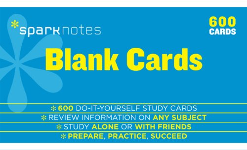9781411471054: Blank Study Cards Sparknotes Study Cards
