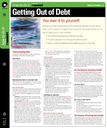 9781411497108: Getting Out of Debt (Quamut)