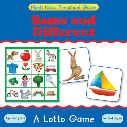 9781411498181: Same and Different: A Lotto Game (Flash Kids Preschool Games)