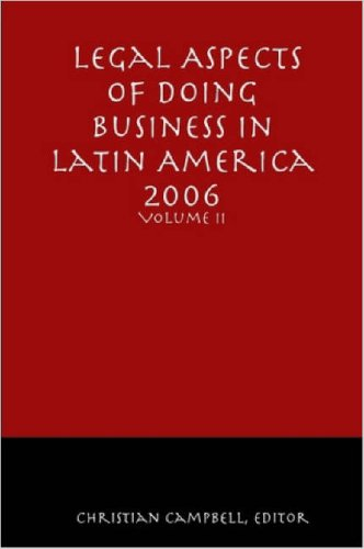 9781411650077: Legal Aspects of Doing Business in Latin America - Volume II