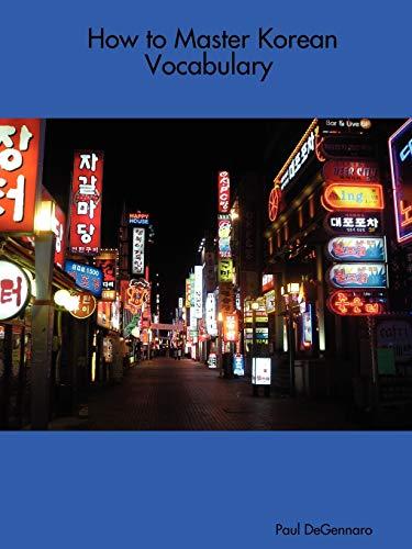9781411669635: How to Master Korean Vocabulary (Korean Edition)