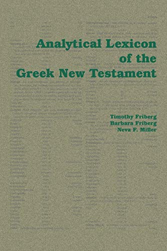 9781412056540: Analytical Lexicon of the Greek New Testament