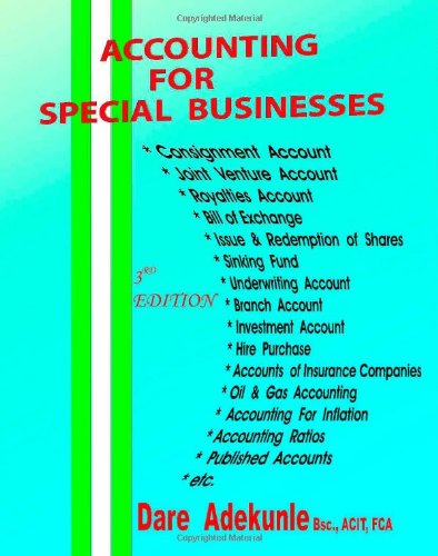 9781412062992: Accounting for Special Business: 3rd Edition