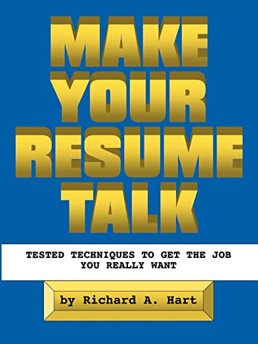 9781412068284: Make Your Resume Talk