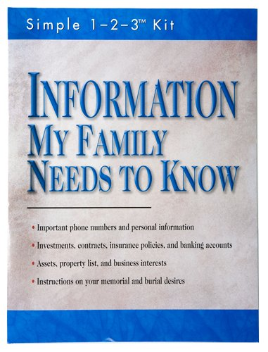 9781412713450: Information My Family Needs to Know (Simple 1-2-3 Kit)