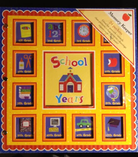 9781412758895: New Seasons, School Years Memories Keepsake Book Album, Red Scallop 24 Pockets