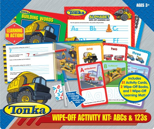 9781412774437: Tonka Wipe-off Activity Kit: Abcs & 123S With Book(S) and Cards and Other (Wipe Off Activity Kit)