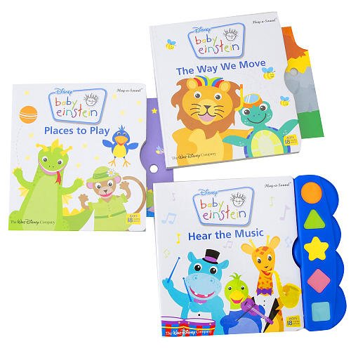 Baby Einstein 3-Book Play-a-Sound Set (The Way We Move, Places to Play, and Hear the Music)