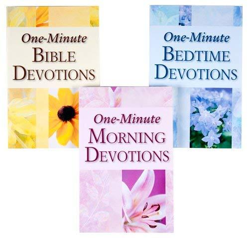 3-Book Library: One-Minute Bible Devotions; One-Minute Morning Devotions; One-Minute Bedtime ...