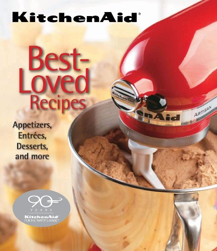 KitchenAid Best-Loved Recipes 9781412799409 Culinary artistry is the true inspiration behind the recipes in the KitchenAid Best-Loved Recipes hardcover cookbook. The KitchenAid Stand Mixer is a must-have small appliance in any fully equipped kitchen, and you will find dozens of ways to use it when making these recipes. Beyond basic mixing, the KitchenAid Best-Loved Recipes cookbook will instruct you on making bread dough with your dough hook, lasagna noodles with the pasta maker, and even your own sausage with the sausage stuffer. The recipes are both easy and impressive, appropriate for novice cooks and experienced chefs alike. From appetizers to cakes and entrées to pies, each chapter contains a decadent menu of dishes you never knew you could prepare in your own kitchen. This cookbook marries simplicity with sophistication and teaches you how to make these delicious desserts: Country Apple Tart Vanilla Cream Pie New York Rye Bread Orange-Glazed Salmon Green Beans and Shiitake Mushrooms
