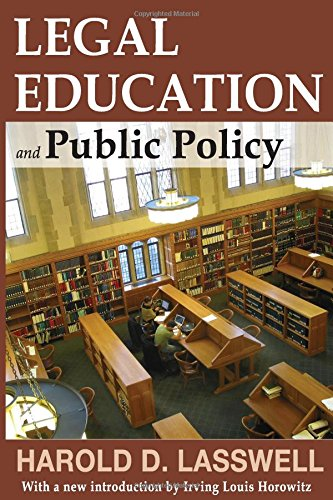9781412842877: Legal Education and Public Policy