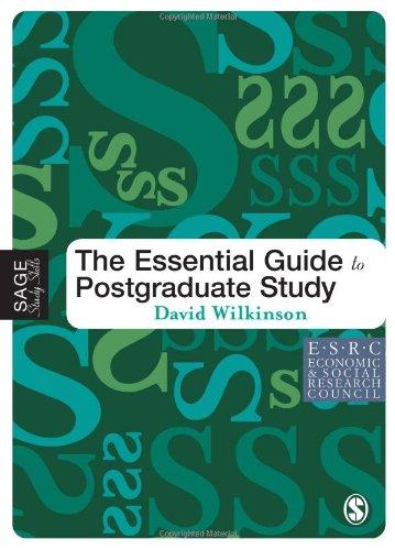 9781412900621: The Essential Guide to Postgraduate Study (SAGE Study Skills Series)
