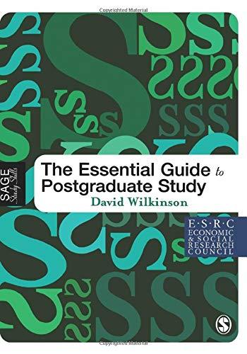 9781412900638: The Essential Guide to Postgraduate Study (SAGE Study Skills Series)