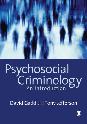 9781412900799: Psychosocial Criminology