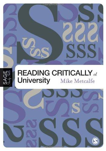 9781412901840: Reading Critically at University (SAGE Study Skills Series)