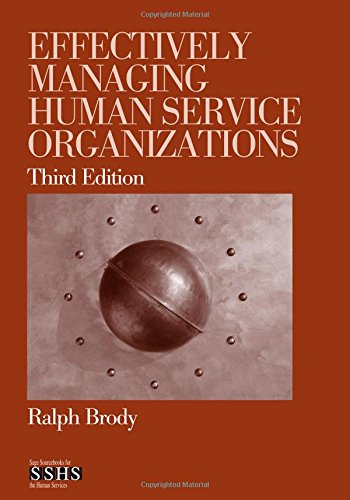 9781412904209: Effectively Managing Human Service Organizations (SAGE Sourcebooks for the Human Services)