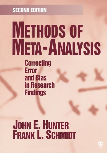 9781412904797: Methods of Meta-Analysis: Correcting Error and Bias in Research Findings
