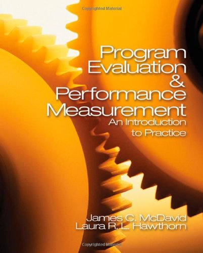 9781412906685: Program Evaluation and Performance Measurement: An Introduction to Practice