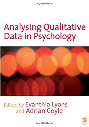 9781412907835: Analysing Qualitative Data in Psychology
