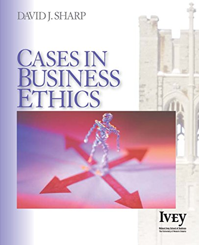 9781412909242: Cases in Business Ethics (The Ivey Casebook Series)