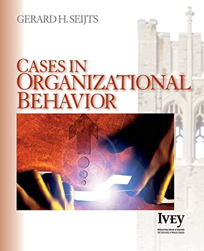 9781412909297: Cases in Organizational Behavior (The Ivey Casebook Series)