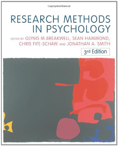 Research Methods in Psychology: Glynis Breakwell (Editor), Sean Martin Hammond (Editor), Chris ...