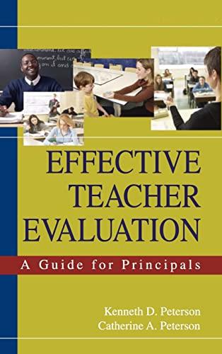 9781412914826: Effective Teacher Evaluation: A Guide for Principals