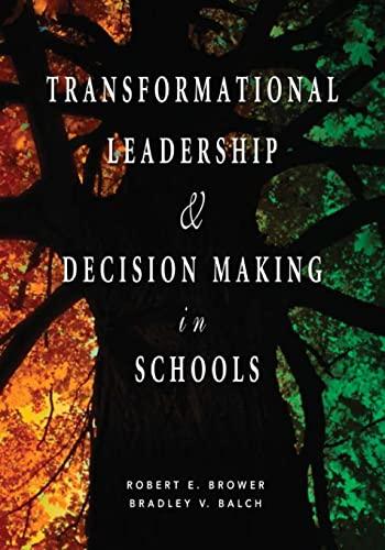 9781412914871: Transformational Leadership & Decision Making in Schools