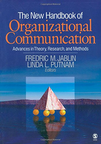 9781412915250: The New Handbook of Organizational Communication: Advances in Theory, Research, and Methods