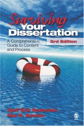 9781412916783: Surviving Your Dissertation: A Comprehensive Guide to Content and Process (Surviving Your Dissertation: A Comprehen (Hardcover))