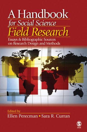 9781412916806: A Handbook for Social Science Field Research: Essays & Bibliographic Sources on Research Design and Methods