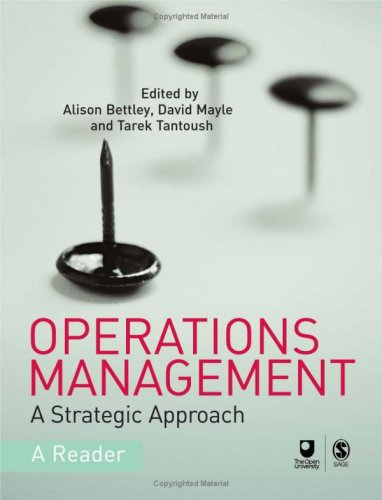 9781412919029: Operations Management: A Strategic Approach (Published in association with The Open University)