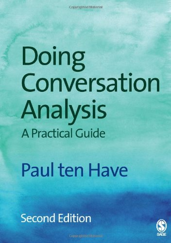 9781412921749: Doing Conversation Analysis (Introducing Qualitative Methods series)