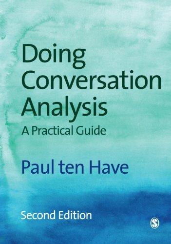 9781412921756: Doing Conversation Analysis (Introducing Qualitative Methods Series)